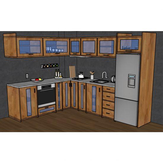 "Кухня ""Камелия"" un array (pino)"