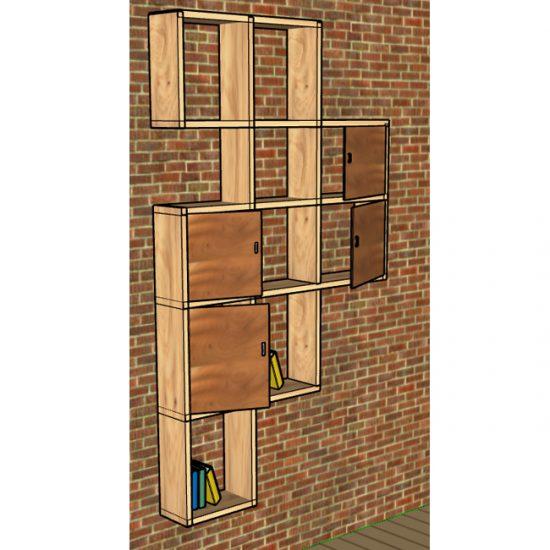 Shelves array (Pine)